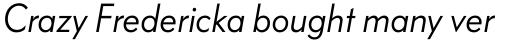 FF Bauer Grotesk Std Regular Italic sample