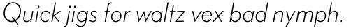 FF Bauer Grotesk Std Light Italic sample
