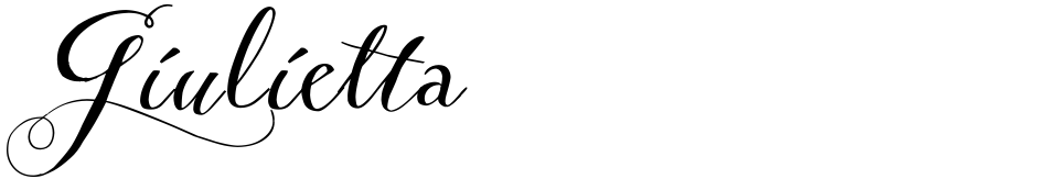Click to view  Giulietta font, character set and sample text