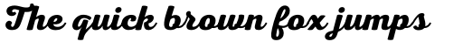 Nexa Script Bold sample