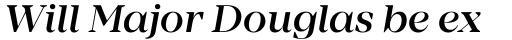 Mirador Medium Italic sample