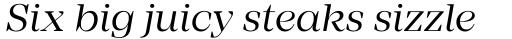 Mirador Regular Italic sample