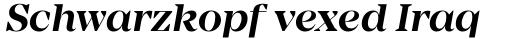 Mirador Semi Bold Italic sample
