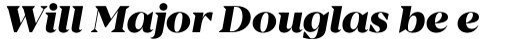 Mirador Extra Bold Italic sample