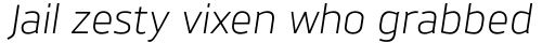 Brokman Book Italic sample