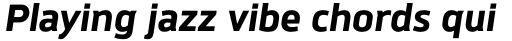 Brokman ExtraBold Italic sample