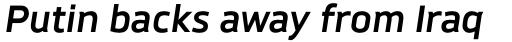 Brokman Bold Italic sample