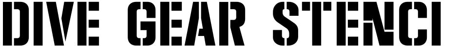 Click to view  Dive Gear Stencil JNL font, character set and sample text