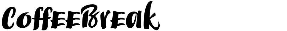 Click to view  CoffeeBreak font, character set and sample text
