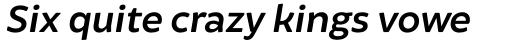 Brocha Alt SemiBold Italic sample
