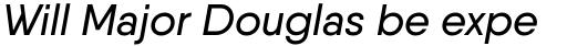 Qanelas Medium Italic sample