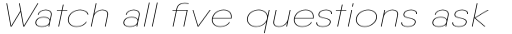 Qanelas Thin Italic sample