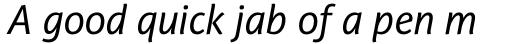PF Adamant Sans Pro Italic sample
