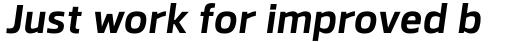 Facto Bold Italic sample