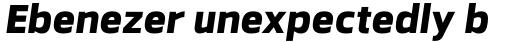 Facto Extra Bold Italic sample