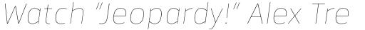 Facto Thin Italic sample