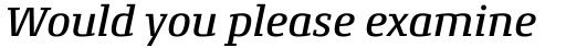 Conto Slab Medium Italic sample