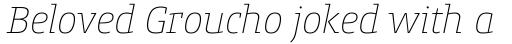 Conto Slab Thin Italic sample