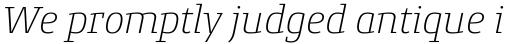 Conto Slab ExtraLight Italic sample