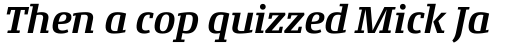 Conto Slab Bold Italic sample