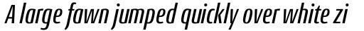 Conto Compressed Medium Italic sample