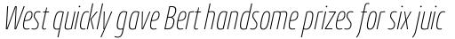 Conto Compressed Thin Italic sample