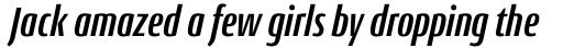 Conto Compressed Bold Italic sample