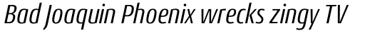 Conto Condensed Italic sample