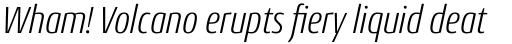 Conto Condensed Light Italic sample
