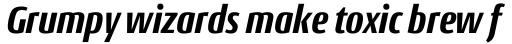 Conto Condensed ExtraBold Italic sample