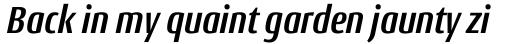 Conto Condensed Bold Italic sample