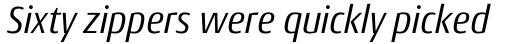 Conto Narrow Italic sample