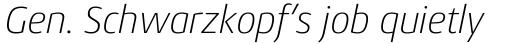 Conto ExtraLight Italic sample