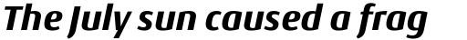 Conto ExtraBold Italic sample