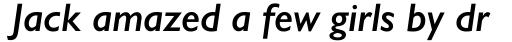 Gill Sans Nova Semi Bold Italic sample