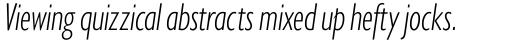 Gill Sans Nova Condensed Light Italic sample