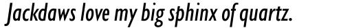 Gill Sans Nova Condensed Medium Italic sample