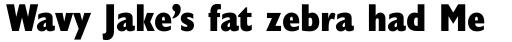 Gill Sans Nova Condensed Extra Bold sample