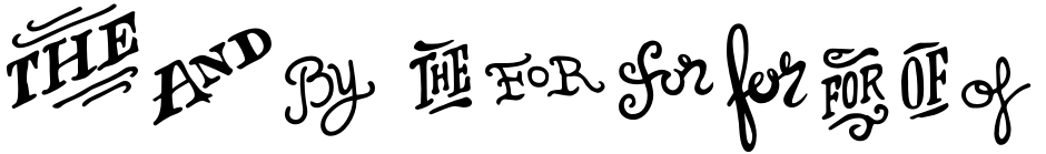 Click to view  HMS Gilbert font, character set and sample text