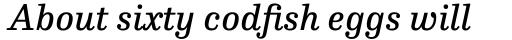 FF Hertz Pro Book Italic sample