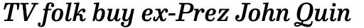 FF Hertz Std Medium Italic sample