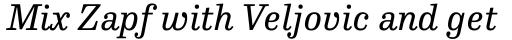 FF Hertz Std Regular Italic sample