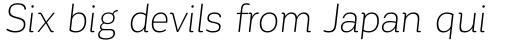 Corporative Soft Light Italic sample