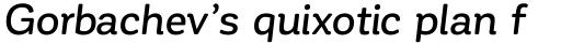 Corporative Soft Medium Italic sample