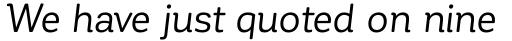 Corporative Soft Regular Italic sample