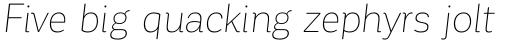 Corporative Soft Thin Italic sample