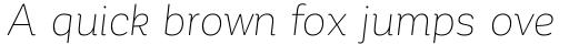 Corporative Soft Alt Thin Italic sample