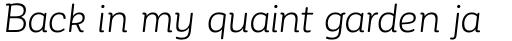 Corporative Soft Alt Book Italic sample