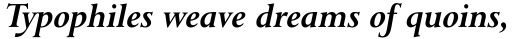 Lapidary 333 Bold Italic sample