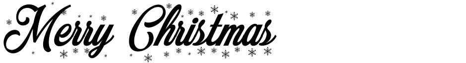Click to view  Merry Christmas font, character set and sample text
